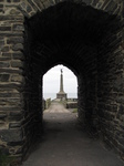 SX20347 Monument seen through Aberystwyth castle gate.jpg